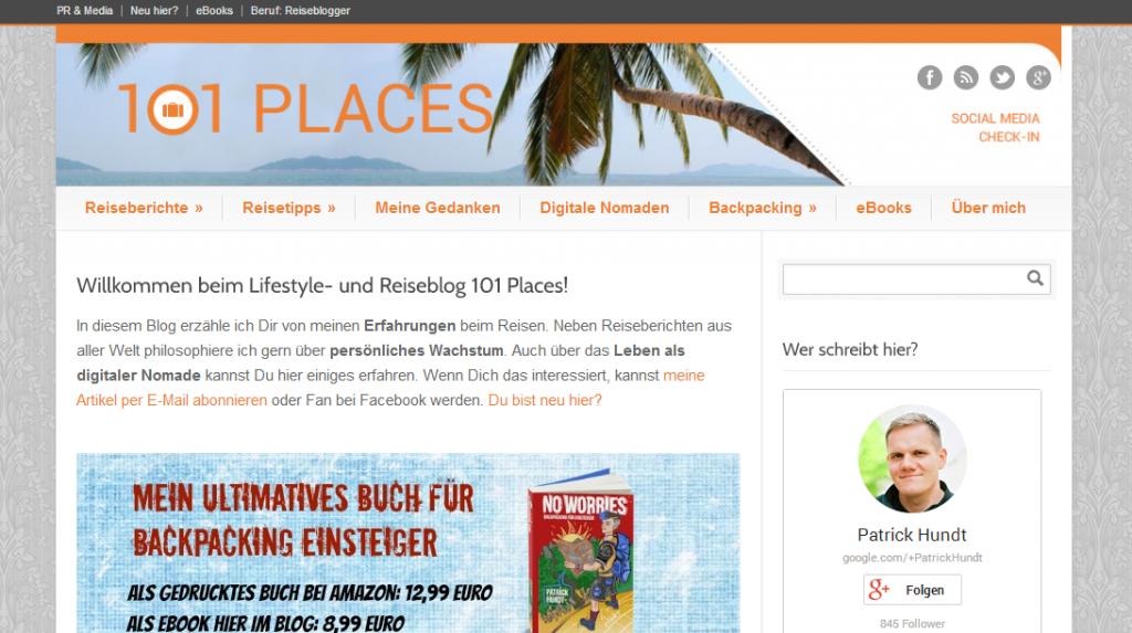 101 Places von Patrick Hundt