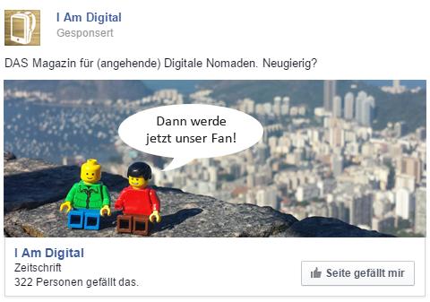 Beispiel Facebook Anzeige